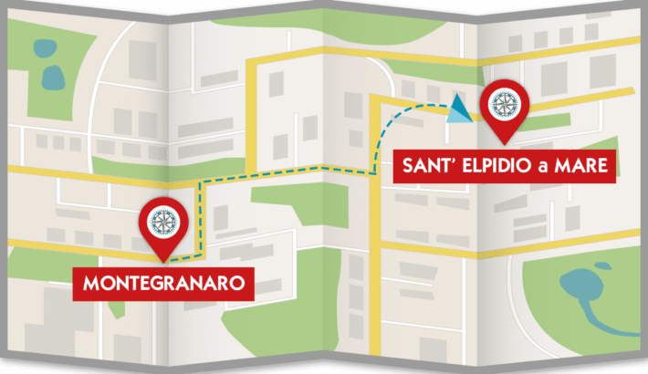 itinerario montegranaro sant'elpidio a mare