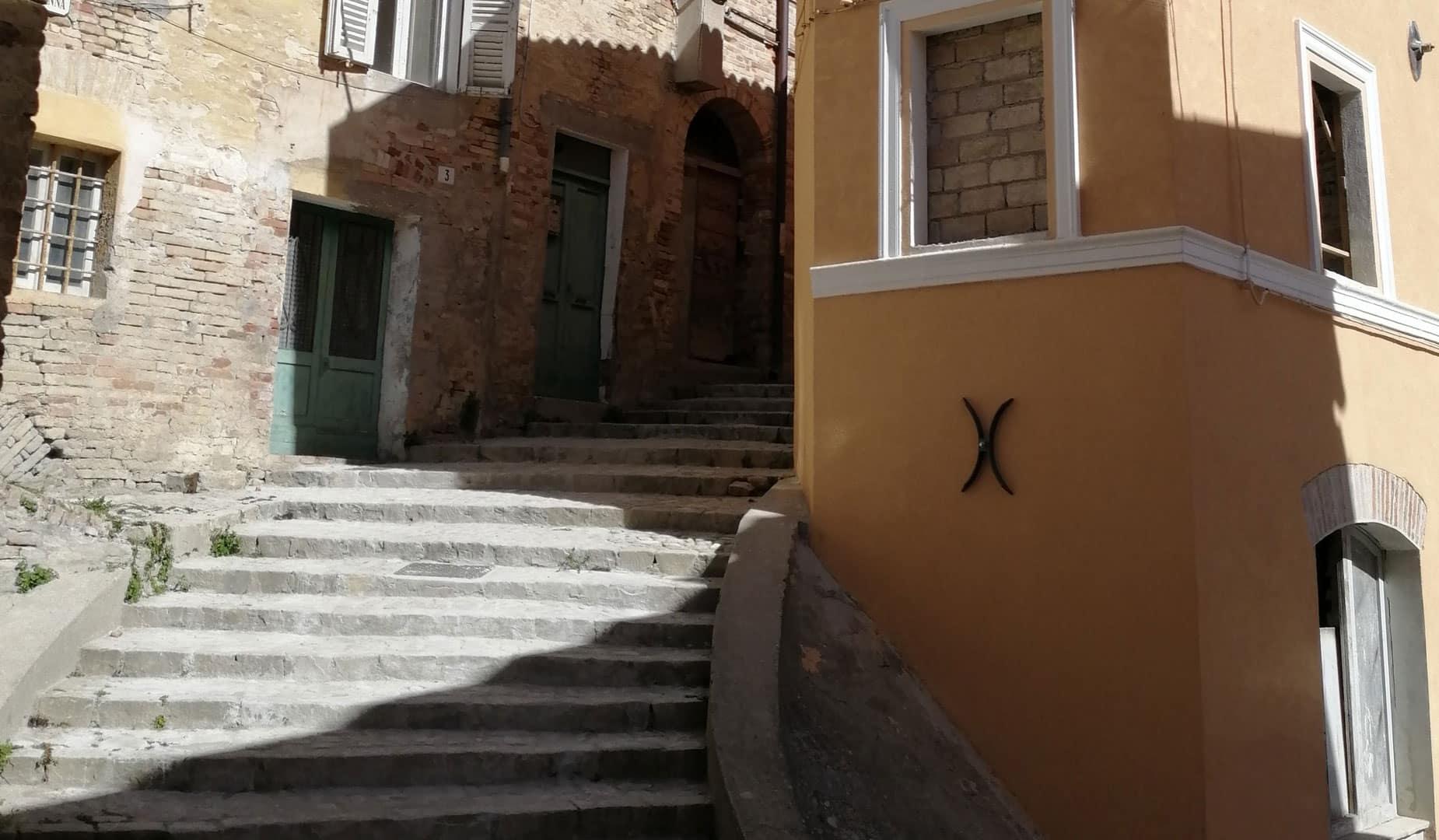 montegranaro scalinata centro storico