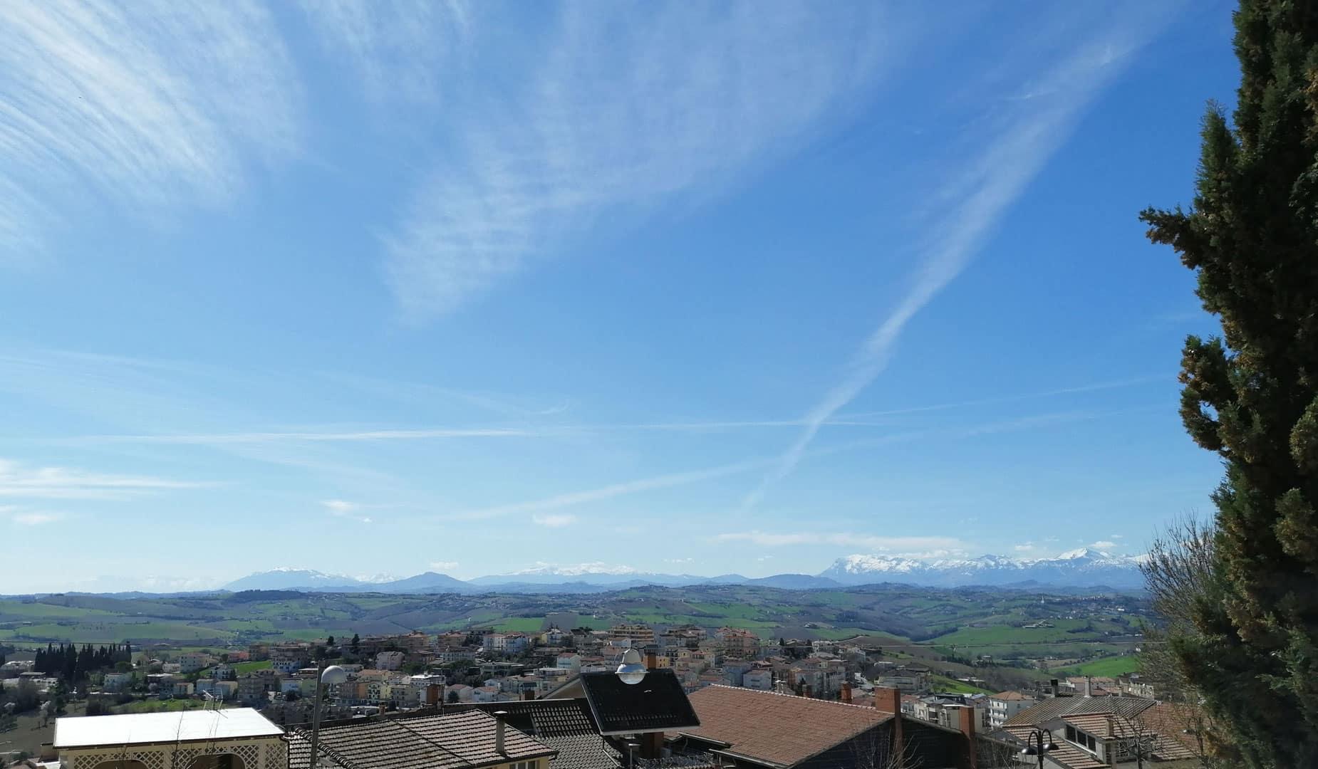 vista sibillini da montegranaro
